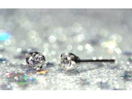 プレシャスFDAピアス ダイヤ+プラチナ爪 FDA-801